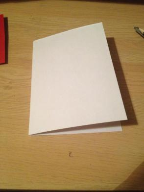 Get an A5 card or get an A4 card, cut it in half, and fold it (which is what I did).