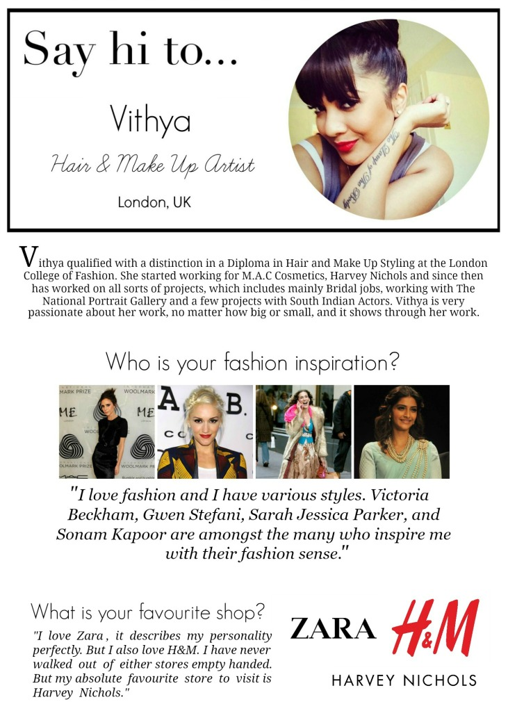 Say hi to Vithya - Vithya Hair and Make Up Artist - www.rockpaperwhisk.com