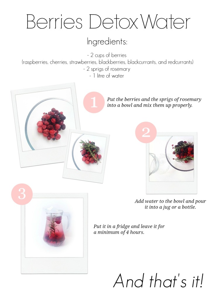 Berries Detox Water - www.rockpaperwhisk.com