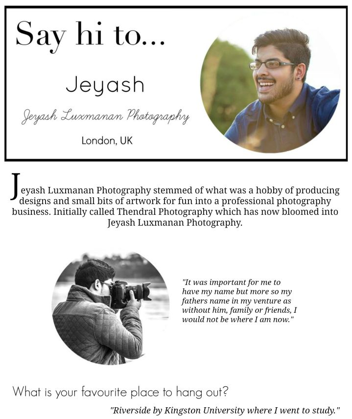 Say hi to... - Jeyash Luxmanan Photography - www.rockpaperwhisk.com